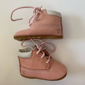 Baby Girl Timberland Booties 1 Pink Suede Leather